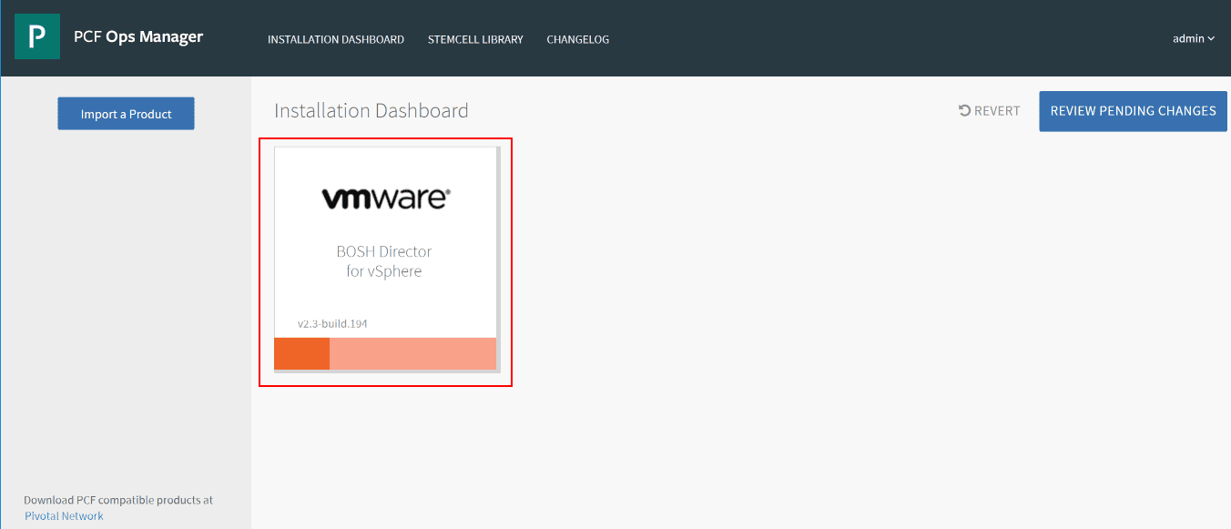 Installation-dashboard-ready-to-complete-the-vSphere-configuration-for-PCF-Ops-Manager Getting Started with VMware Pivotal Container Service PKS PCF Ops Manager Install