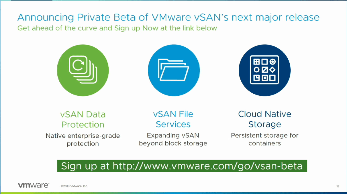 Private-VMware-vSAN-Beta-Features-including-native-Data-Protection VMware vSAN Beta Native Data Protection Feature with NextGen Snapshots