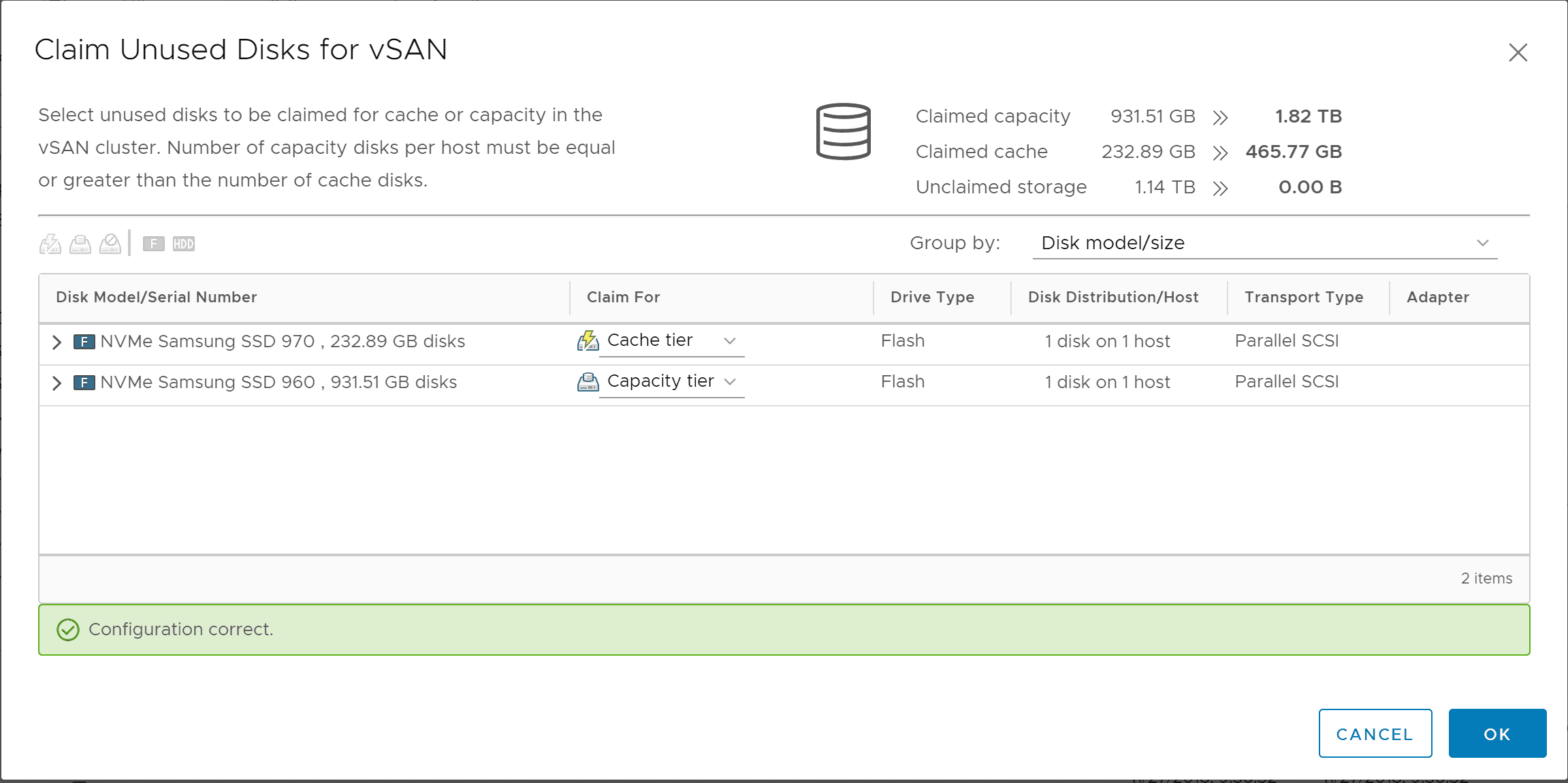 Selecting-the-drives-to-be-used-for-VMware-vSAN-in-the-disk-group Replacing VMware vSAN Cache Disk and Resyncing vSAN Objects