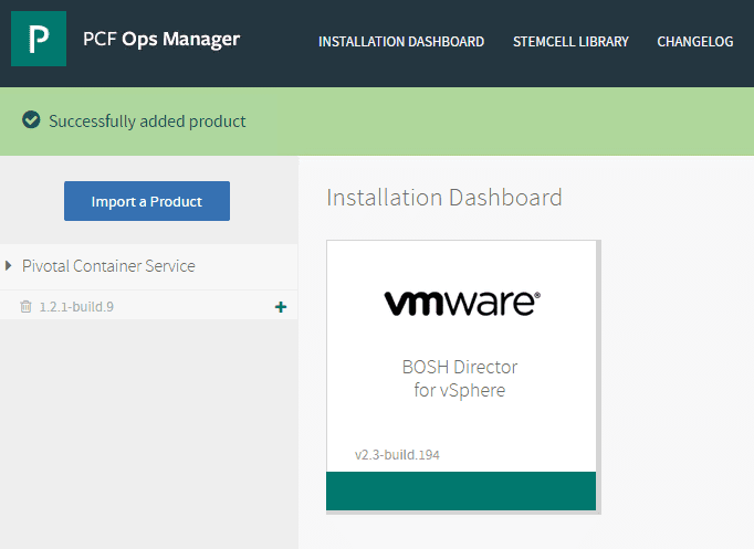 The-Pivotal-Container-Service-is-successfully-added-to-PCF-Ops-Manager Getting Started with VMware Pivotal Container Service PKS PCF Ops Manager Install
