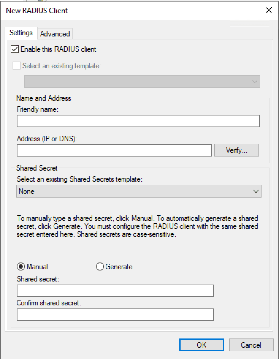 Adding-a-test-workstation-as-a-RADIUS-client-to-use-NTRADPING-to-test-RADIUS Installing Configuring Troubleshooting Windows Server 2019 NPS as RADIUS