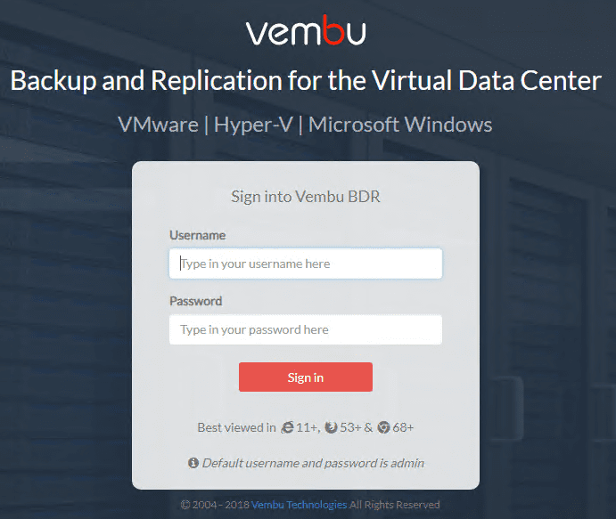 After-nexting-through-the-installation-you-will-quickly-be-able-to-login-to-the-solution Vembu BDR Suite v4.0 Released GA Installation and New Features