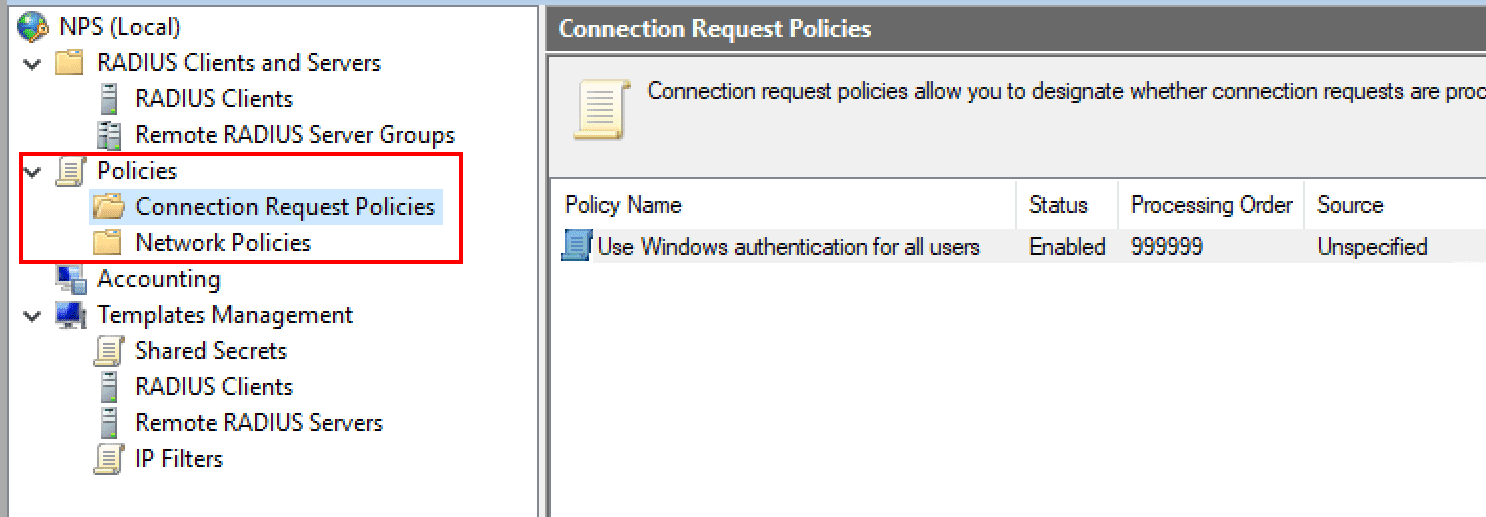 An-overview-of-connection-and-network-policies Installing Configuring Troubleshooting Windows Server 2019 NPS as RADIUS