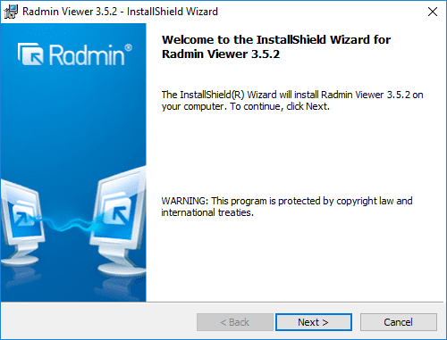 Beginning-the-Radmin-Viewer-installation Radmin Windows 10 Remote Viewing Support and Console Control Utility