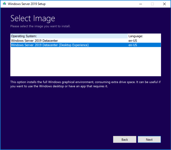 Choose-the-Windows-Server-2019-image-you-want-to-install-Core-or-Desktop-experience Upgrading Windows Server 2016 Domain Controller DC to Windows Server 2019