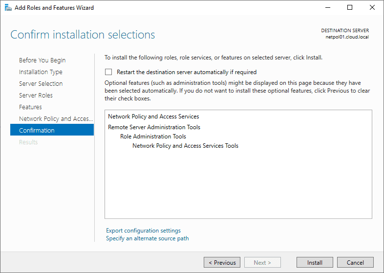 Confirming-the-install-of-Network-Policy-Server Installing Configuring Troubleshooting Windows Server 2019 NPS as RADIUS