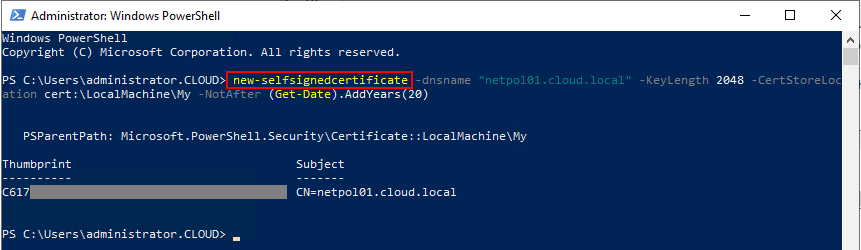 Creating-a-new-self-signed-certificate-for-use-with-PEAP-authentication Installing Configuring Troubleshooting Windows Server 2019 NPS as RADIUS
