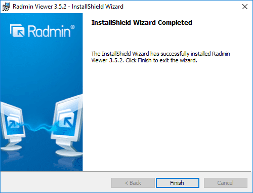 Finish-the-Radmin-Viewer-installation Radmin Windows 10 Remote Viewing Support and Console Control Utility