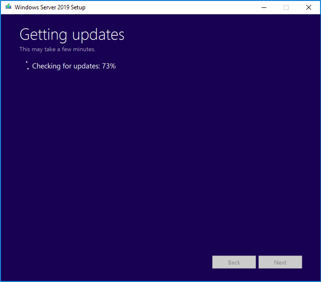 The-Windows-Server-2019-upgrade-process-begins-checking-for-updates Upgrading Windows Server 2016 Domain Controller DC to Windows Server 2019
