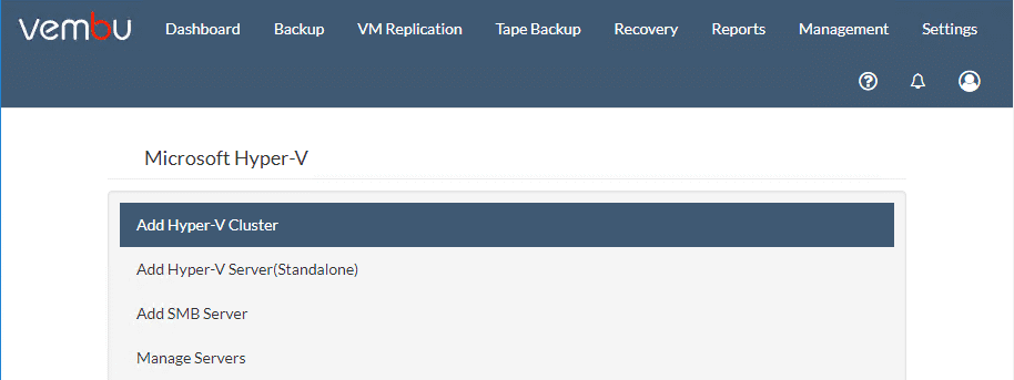 The-various-Hyper-V-configuration-options-to-add-to-Vembu-BDR-Suite-v4.0 Vembu BDR Suite v4.0 Released GA Installation and New Features
