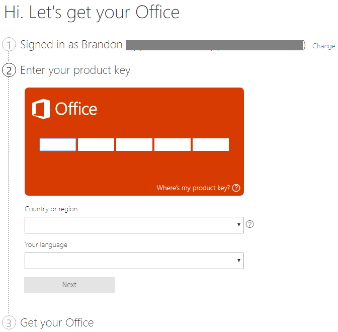 Associating-the-product-key-for-Office-365-to-the-Microsoft-account Office 2019 vs Office 365 Differences and Installation