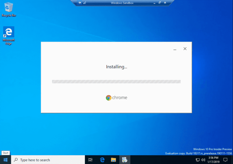Can-you-install-Chrome-in-the-Windows-10-Sandbox-Yes Installing New Windows 10 Sandbox Feature Networking Resources Browsers Security