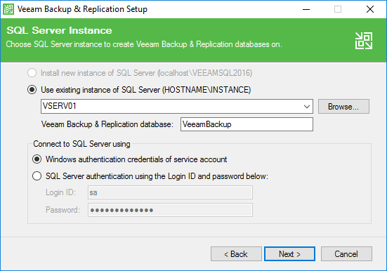 Configuring-the-Veeam-Backup-Replication-9.5-Update-4-SQL-Server-instance Veeam Backup and Replication Update 4 Released New Features Upgrade Process