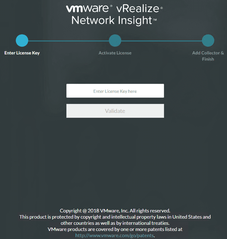 Connect-to-the-web-interface-of-the-vRNI-4.0-platform-appliance-and-enter-license-key Installing vRealize Network Insight 4.0 Platform and Proxy Appliances