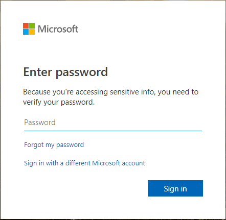 Enter-your-password-for-the-Microsoft-account Office 2019 vs Office 365 Differences and Installation