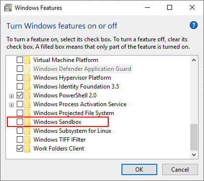 Installing-the-new-Windows-Sandbox-feature-in-Windows-10-Insider-Preview-Build-18317 Installing New Windows 10 Sandbox Feature Networking Resources Browsers Security