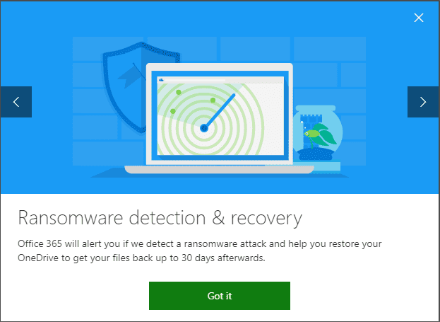 Microsoft-Office-365-OneDrive-offers-Ransomware-Detection-and-Recovery Migrating from Google Drive to Microsoft OneDrive