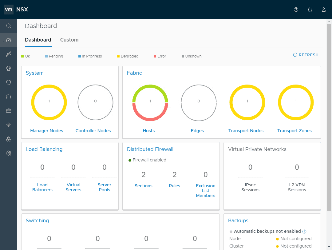 NSX-T-Manager-Dashboard-Overview What is VMware NSX-T Manager Unified Appliance and Installation