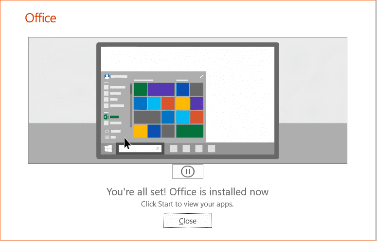 Office-365-installation-completes-successfully Office 2019 vs Office 365 Differences and Installation