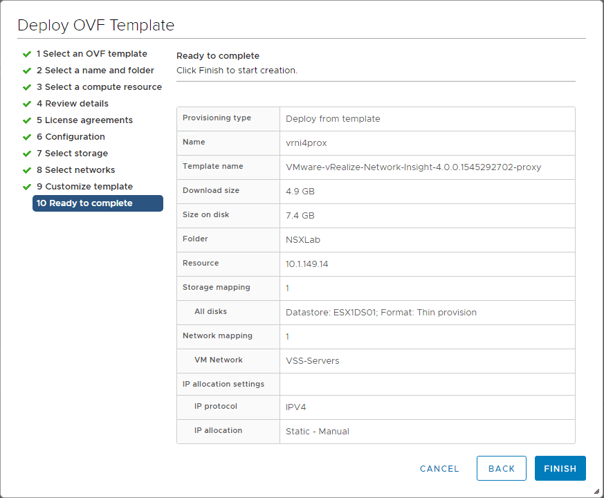 Ready-to-complete-the-vRNI-4.0-proxy-appliance-OVA-deployment Installing vRealize Network Insight 4.0 Platform and Proxy Appliances