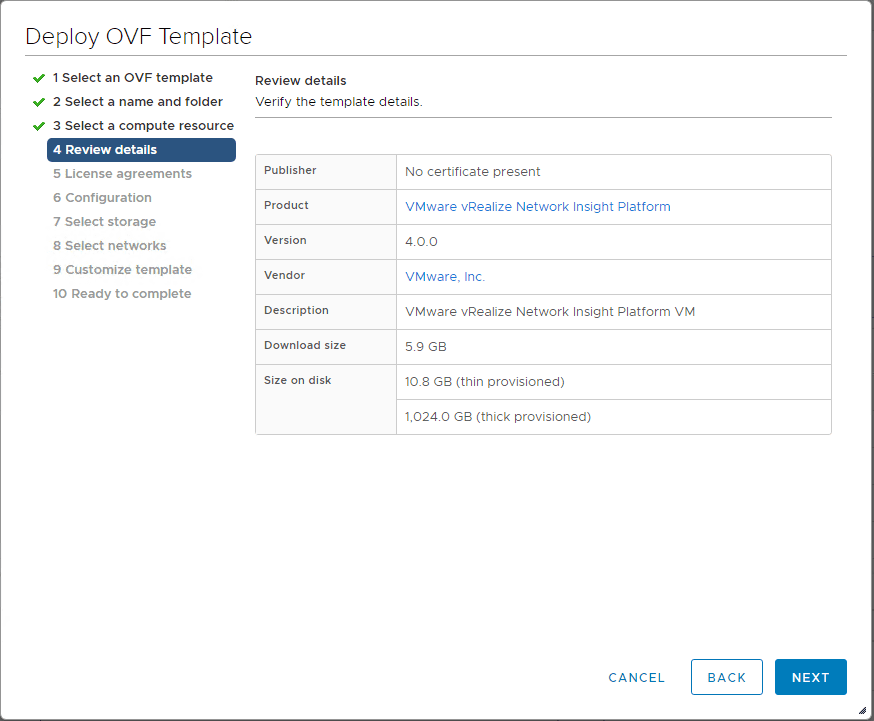 Review-the-vRealize-Network-Insight-4.0-platform-OVA-template-details Installing vRealize Network Insight 4.0 Platform and Proxy Appliances