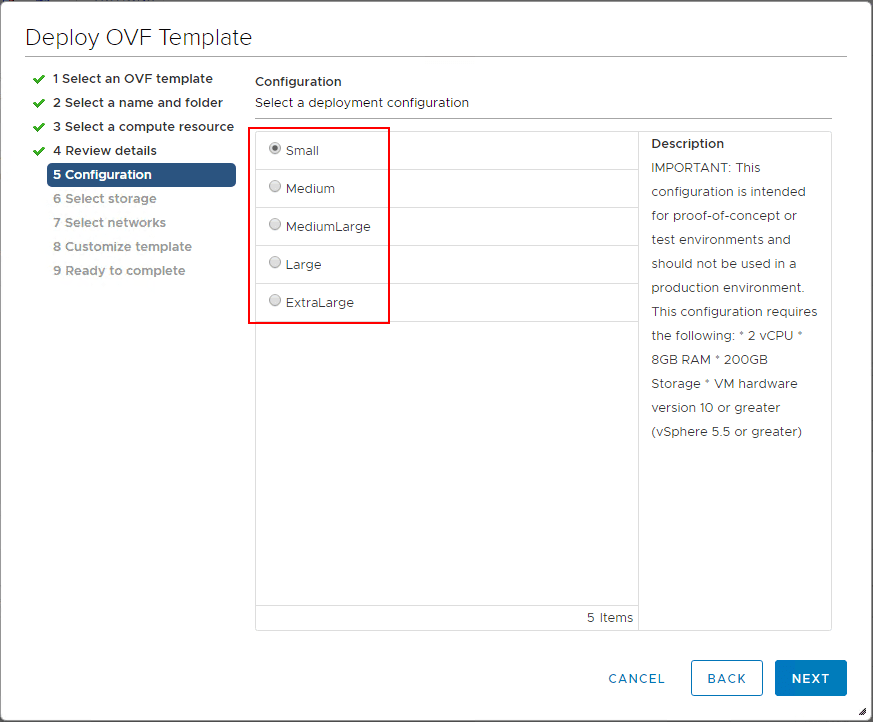 Select-the-deployment-configuration-size-of-the-NSX-T-unified-appliance What is VMware NSX-T Manager Unified Appliance and Installation