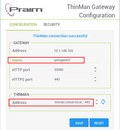 Configuring-the-ThinMan-Gateway-name-and-ThinMan-Server-address Manage Thin Clients and PCs Across Remote Sites with Praim Gateway