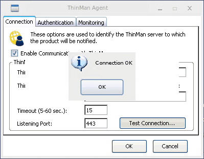 Testing-the-ThinMan-Server-connection Manage Thin Clients and PCs Across Remote Sites with Praim Gateway