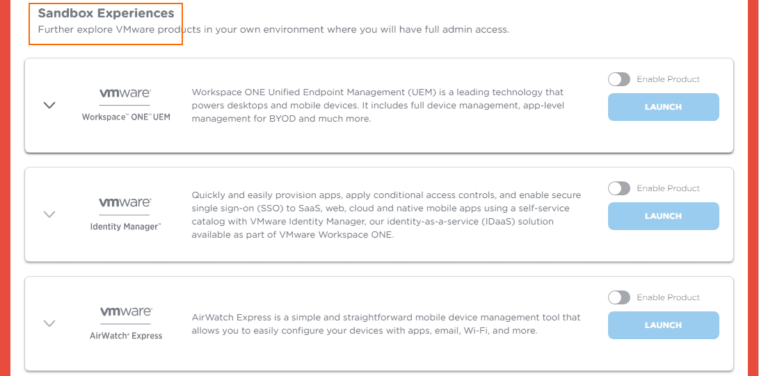 VMUG-TestDrive-Sandbox-Experiences VMware TestDrive added to VMUG Advantage Subscriptions