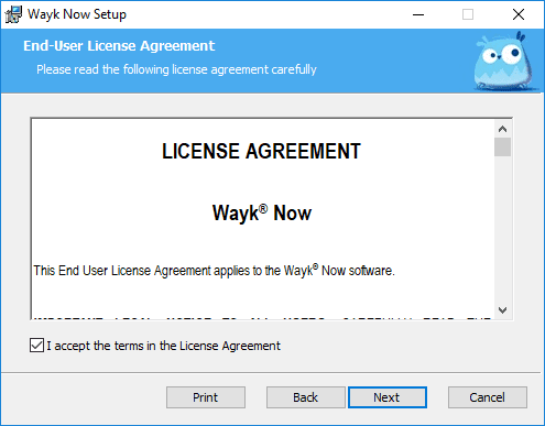 Accepting-the-Devolutions-Wayk-Now-EULA Devolutions Wayk Now Free Remote Access Tool