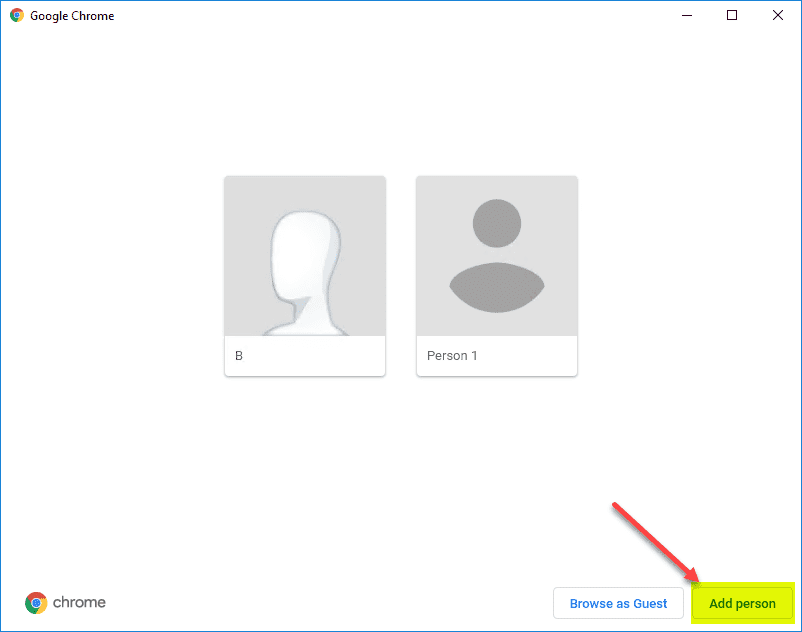 Click-the-add-people-button-to-add-an-additional-Chrome-user Export and Import a Single Bookmarks Folder from Chrome