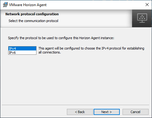 Configure-IPv4-or-IPv6-for-Horizon-View-7.8-Agent Upgrade VMware Horizon Agent to 7.8