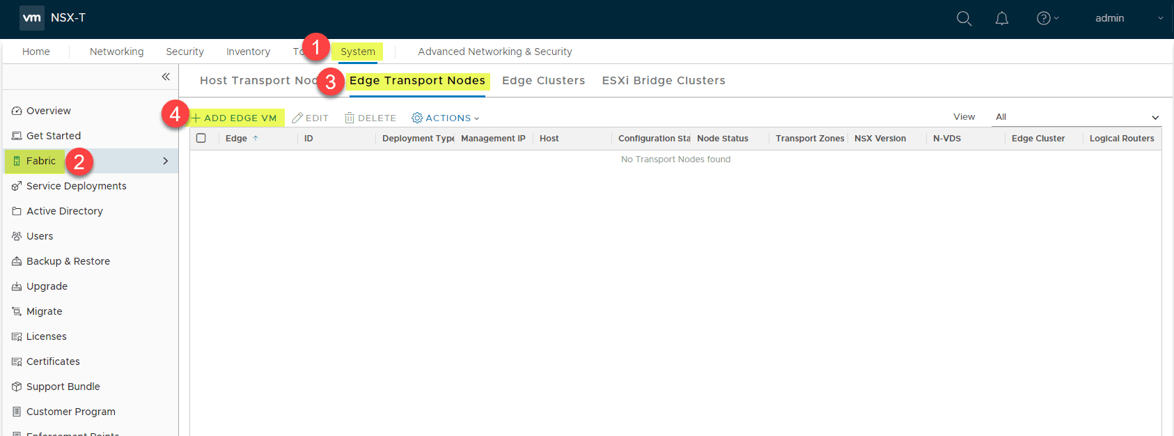 Deploying-the-Edge-Transport-VM-in-the-System-Fabric-configuration Deploy VMware NSX-T 2.4 Edge Transport Appliance VM