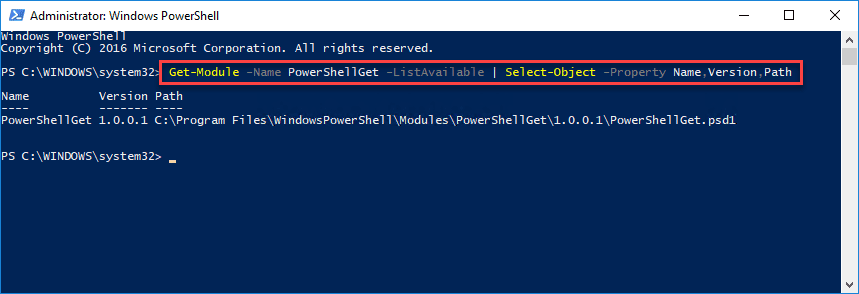 Getting-the-currently-installed-version-of-PowerShellGet-on-a-Windows-10-workstation Installing and Connecting PowerShell Az Module with Microsoft Azure