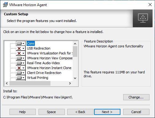 Horizon-View-Agent-7.8-Custom-Setup-components Upgrade VMware Horizon Agent to 7.8