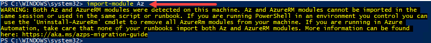 Importing-the-Az-Module-in-the-PowerShell-session Installing and Connecting PowerShell Az Module with Microsoft Azure