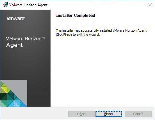 Installation-complete-for-Horizon-View-7.8-Agent Upgrade VMware Horizon Agent to 7.8