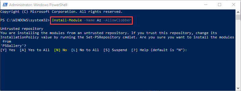 Installing-the-latest-Azure-Az-PowerShell-module Installing and Connecting PowerShell Az Module with Microsoft Azure