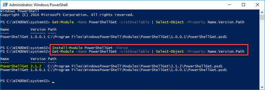 Installing-the-latest-version-fo-PowerShellGet Installing and Connecting PowerShell Az Module with Microsoft Azure
