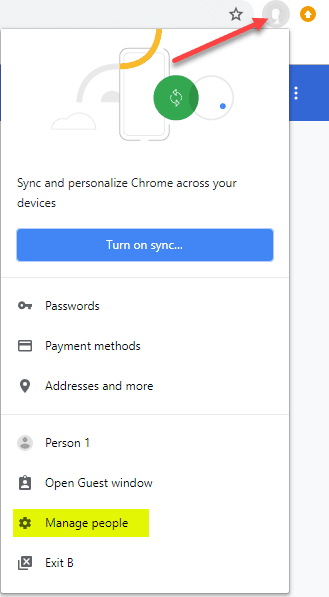Manage-Users-in-Chrome Export and Import a Single Bookmarks Folder from Chrome