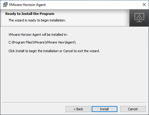 Ready-to-begin-the-installation-of-the-Horizon-View-7.8-Agent Upgrade VMware Horizon Agent to 7.8
