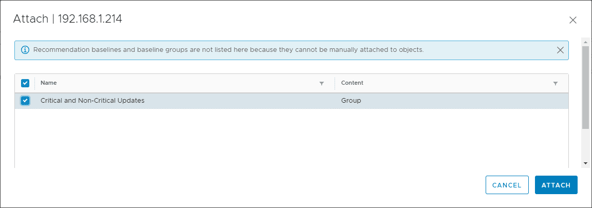 Select-the-new-baseline-group-created-to-house-both-critical-and-non-critical-updates Select Multiple Patch Baselines in vSphere 6.7 Update 1 HTML 5 vSphere Client