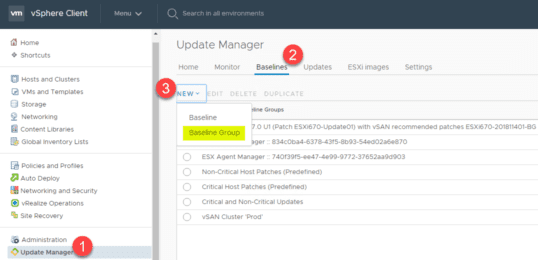 Steps-to-create-a-baseline-group-in-the-HTML-5-vSphere-Client-in-vSphere-6.7-Update-1 Select Multiple Patch Baselines in vSphere 6.7 Update 1 HTML 5 vSphere Client
