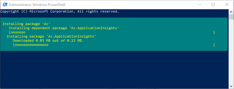 The-Azure-Az-module-installation-proceeds Installing and Connecting PowerShell Az Module with Microsoft Azure