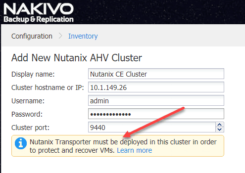 Add-New-Nutanix-AHV-Cluster-in-NBR-8.5 Backup and Restore Nutanix VMs with NAKIVO