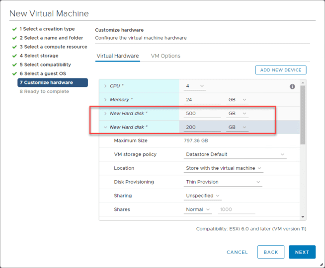 Adding-the-required-hard-disks-for-the-Nutanix-CE-nested-installation-on-ESXi Install Nested Nutanix CE in VMware vSphere ESXi 6.7 Update 1