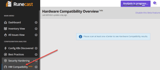 After-rebooting-from-the-upgrade-the-new-HW-Compatibility-beta-check-is-now-available Runecast 2.6 Beta Introduces Automated Hardware Compatibility Checks