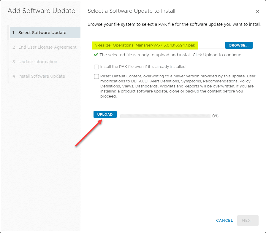 Beginning-the-installation-of-the-VMware-vRealize-Operations-Manager-7.5-Application-upgrade-PAK