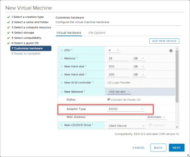 Configuring-the-network-connection-for-Nutanix-CE Install Nested Nutanix CE in VMware vSphere ESXi 6.7 Update 1