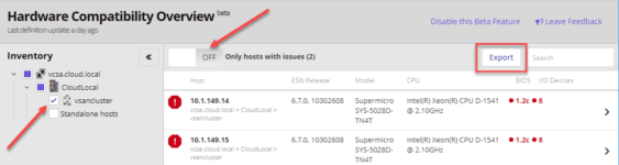 Running-the-HW-Compatibility-check-found-issues-in-the-environment Runecast 2.6 Beta Introduces Automated Hardware Compatibility Checks